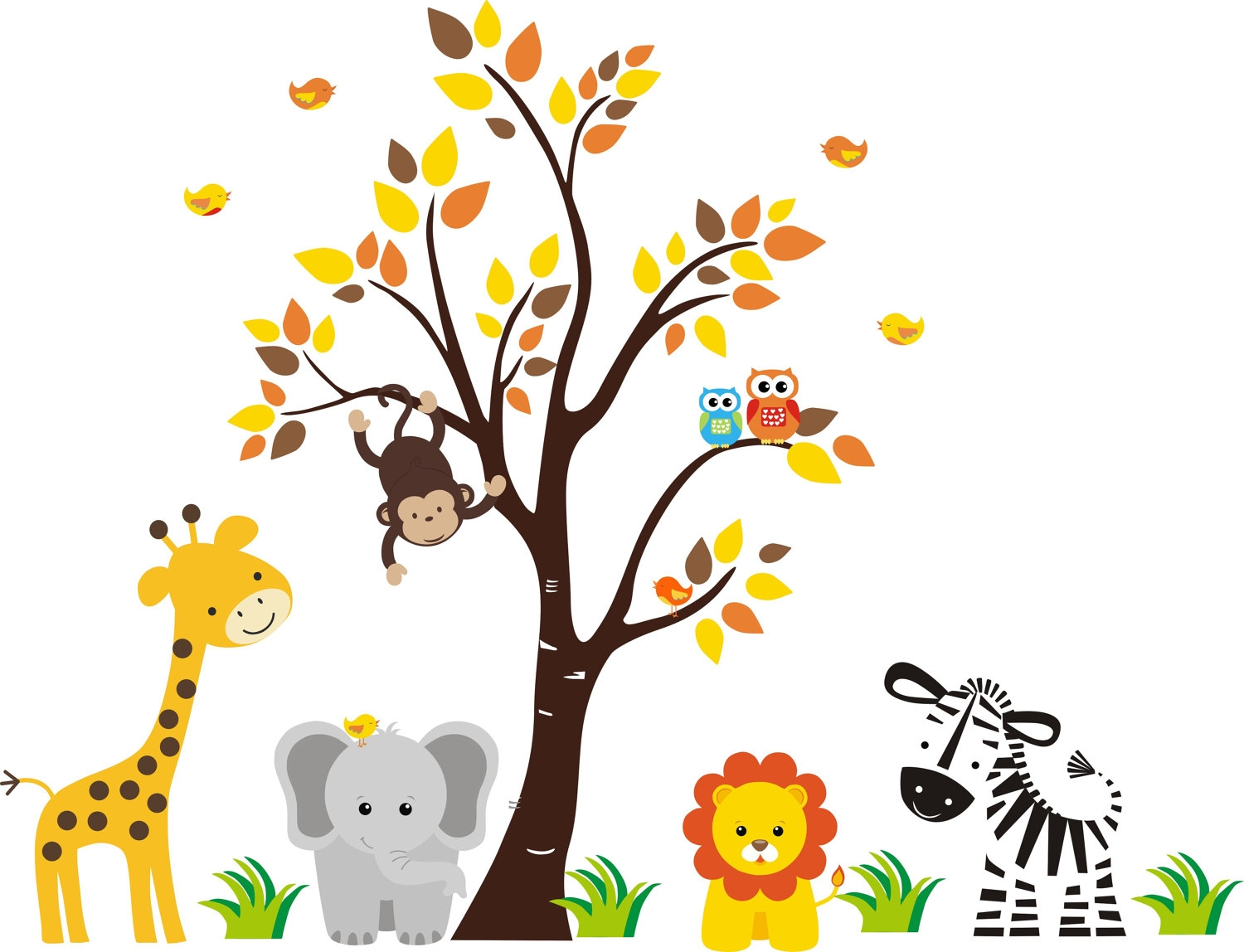 hight resolution of free printable baby jungle animal clipart