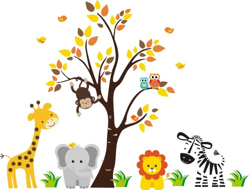 small resolution of free printable baby jungle animal clipart