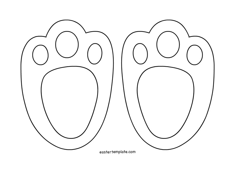 Easter Bunny Footprints Printable Easter Template Kids