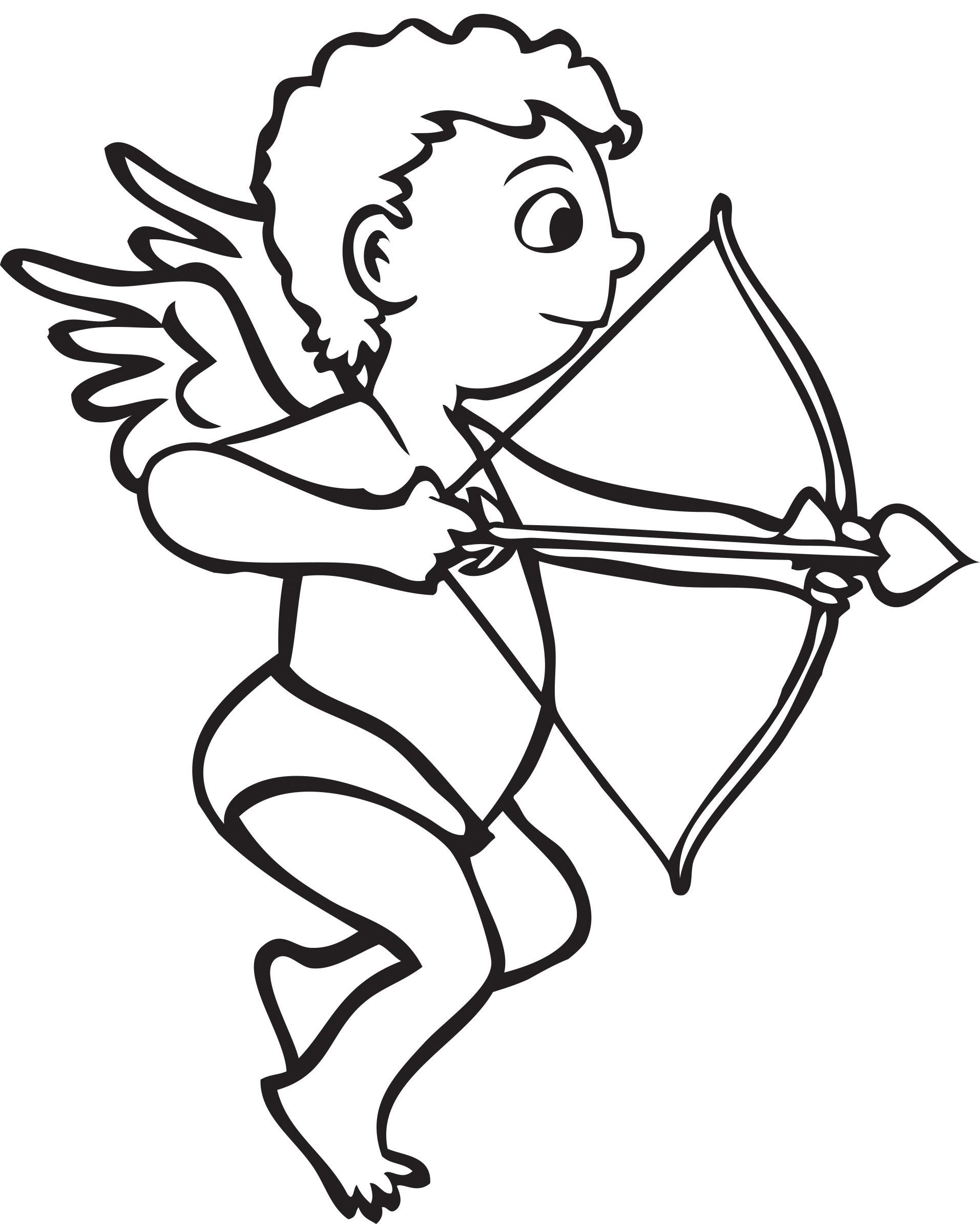 hight resolution of cupid arrow black clipart black