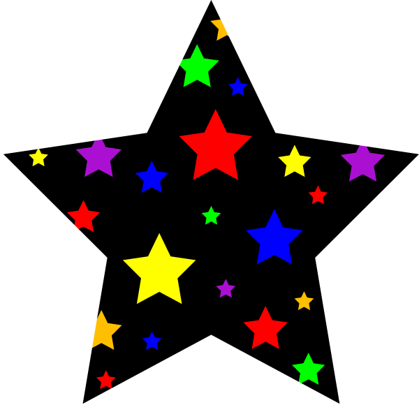 Colorful Stars Clip Art