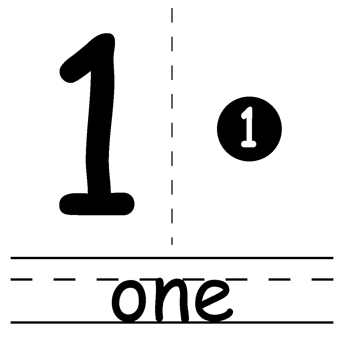 Free Number 1 Outline Cliparts, Download Free Clip Art