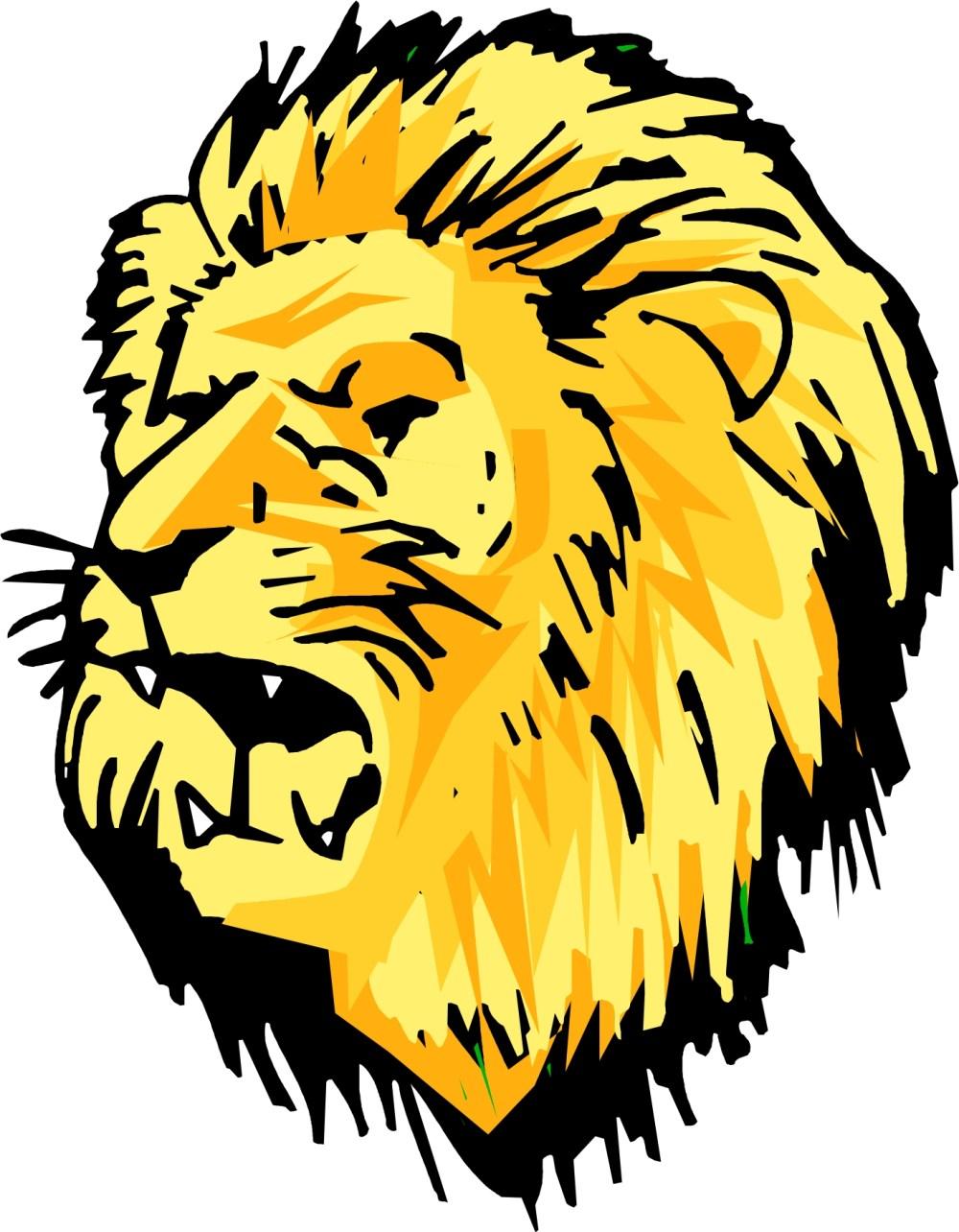 medium resolution of cute lion head clipart