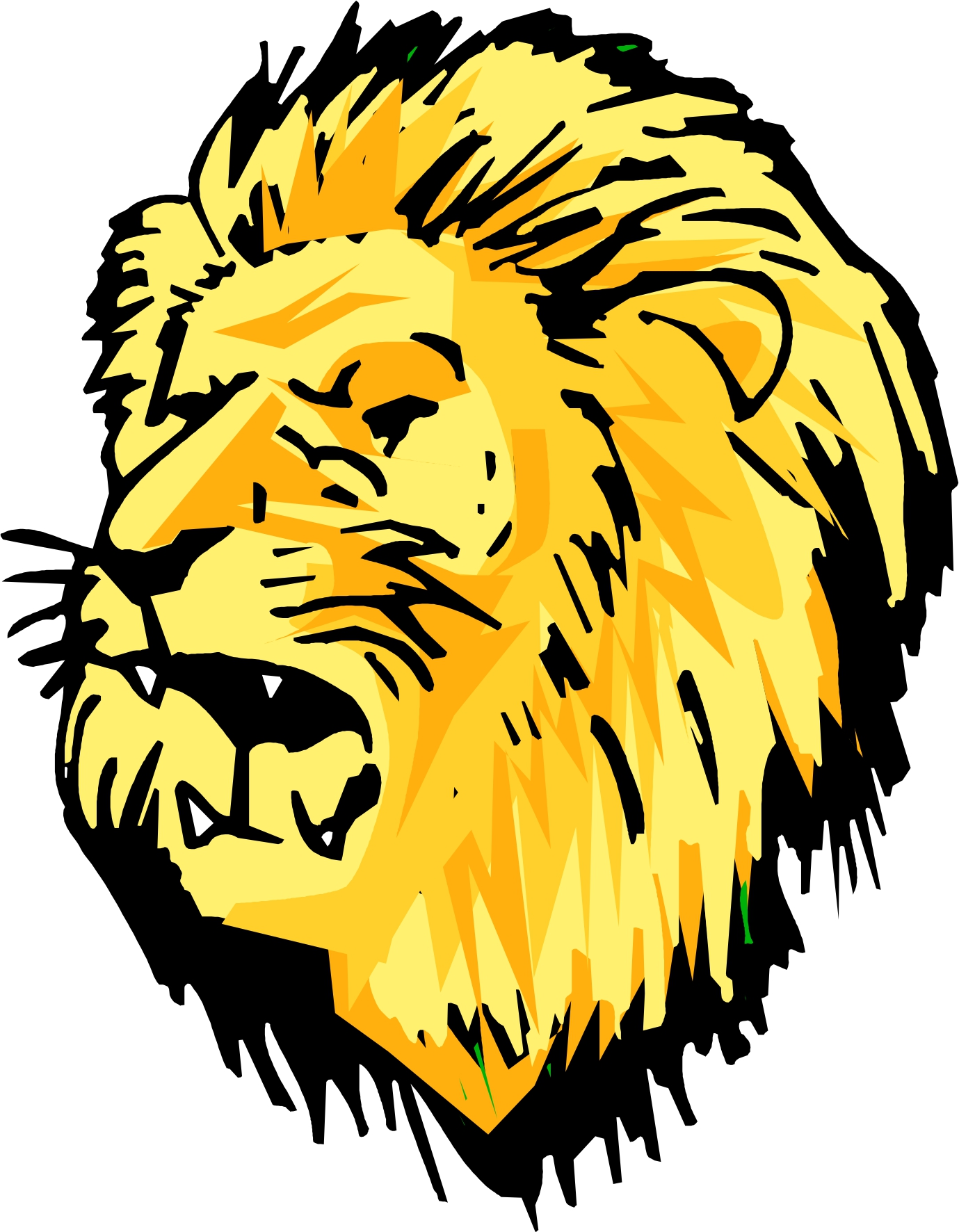 hight resolution of cute lion head clipart