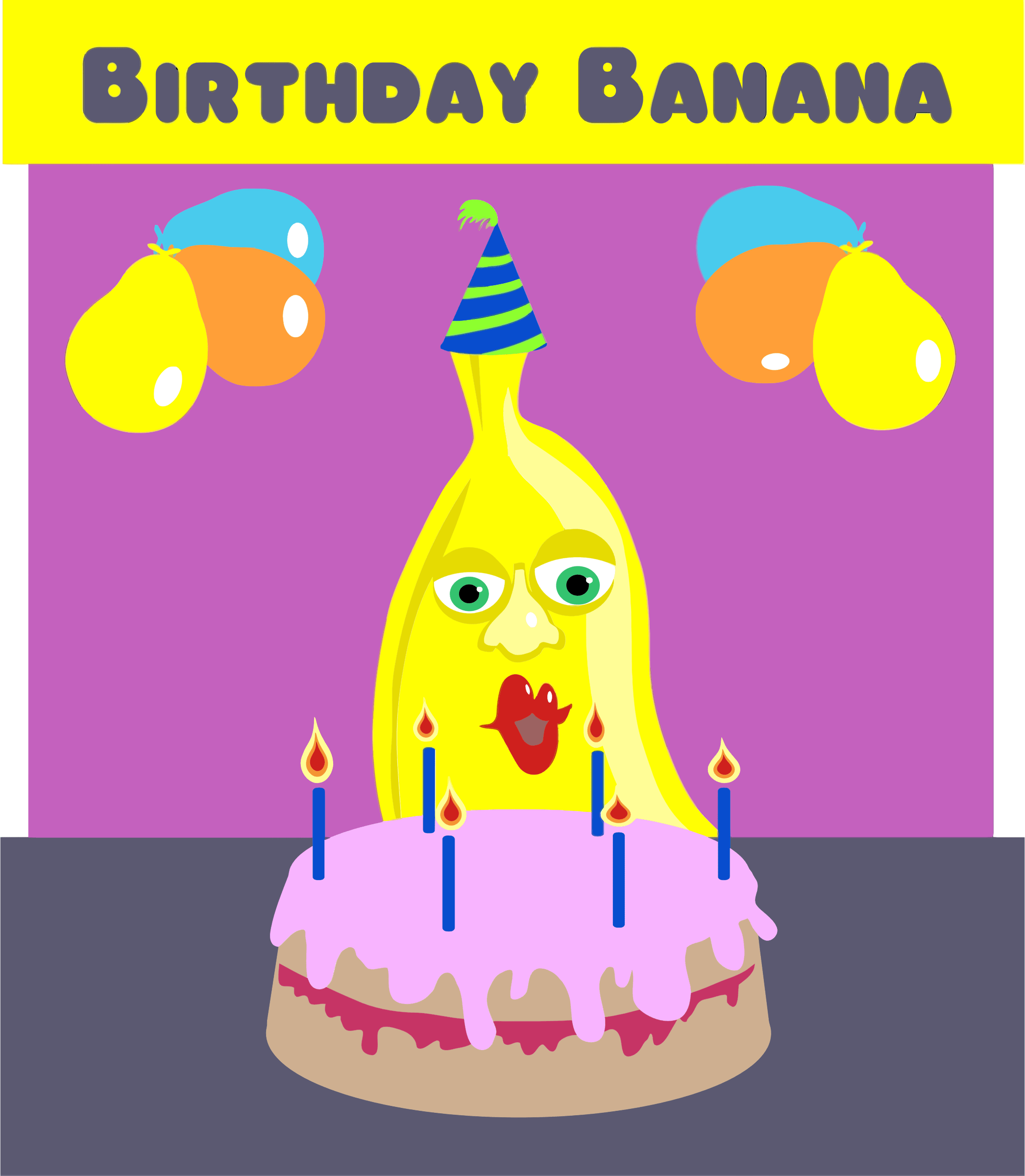 Birthday Banana Cliparts Free Download Clip Art Free