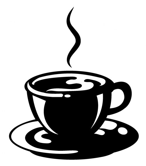 small resolution of coffee cup clip art black white