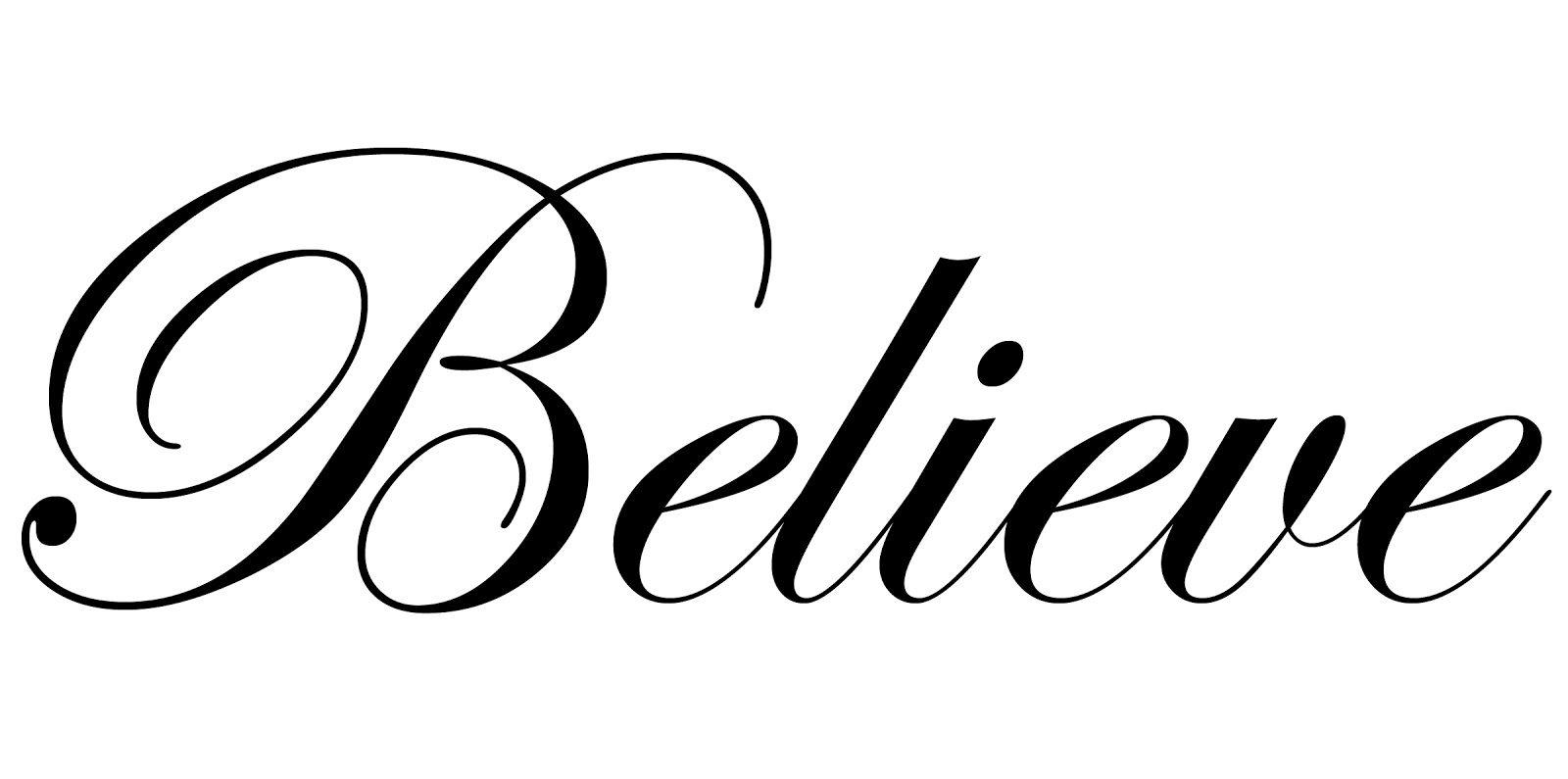 I Believe In You Clipart