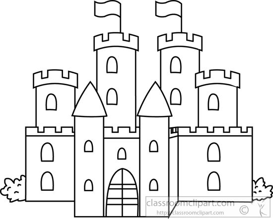 Free Castle Outline Cliparts, Download Free Clip Art, Free