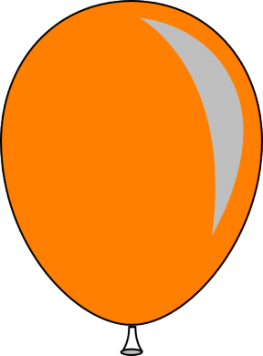 orange balloon cliparts free