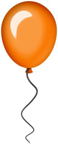 free orange balloon cliparts