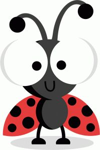 free ladybug silhouette cliparts