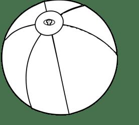beach ball black and white clipart Clip Art Library