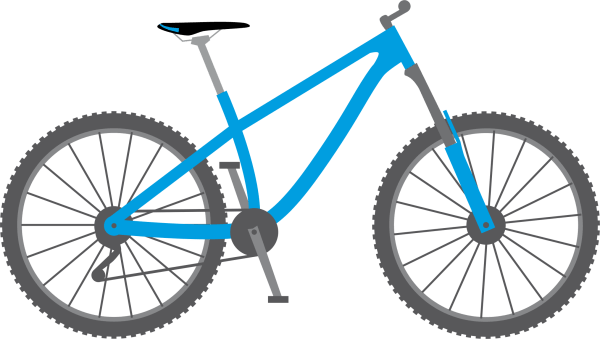 free bicycle blue cliparts