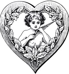 victorian heart clipart [ 1500 x 1550 Pixel ]