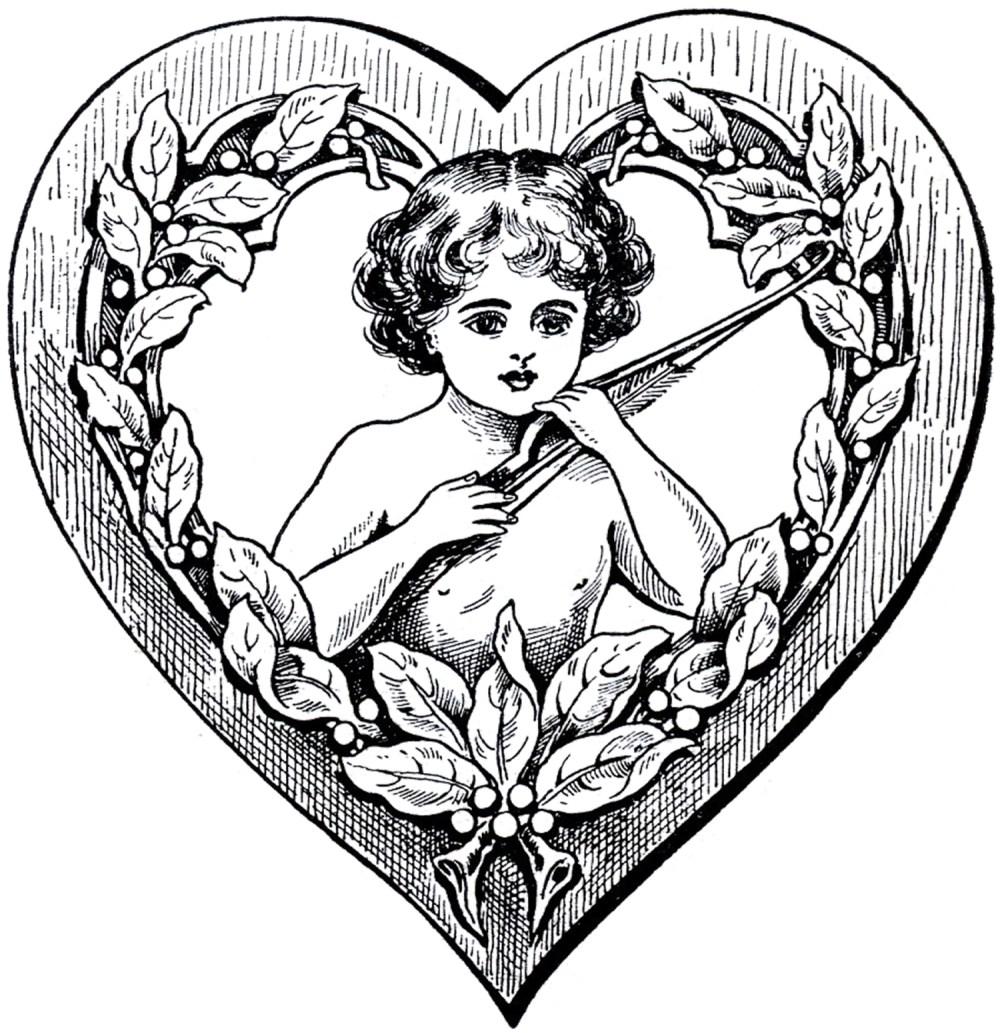 medium resolution of victorian heart clipart