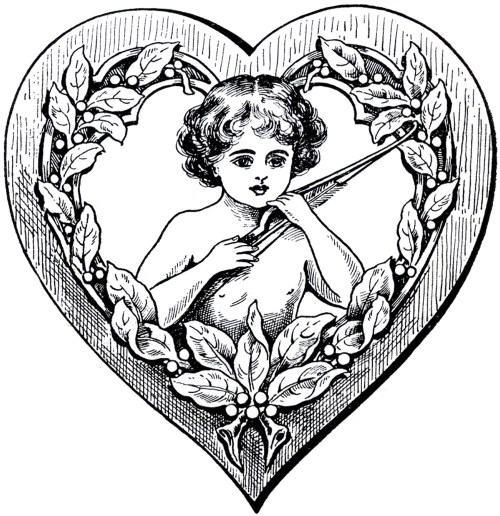 small resolution of victorian heart clipart