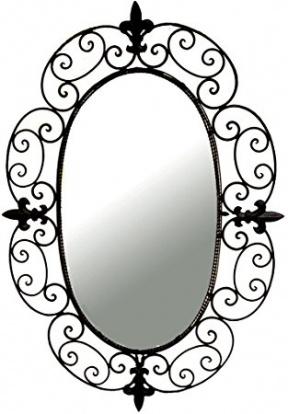 Amazon Ashton Sutton CH100197 Wall Mirror with Metal Frame