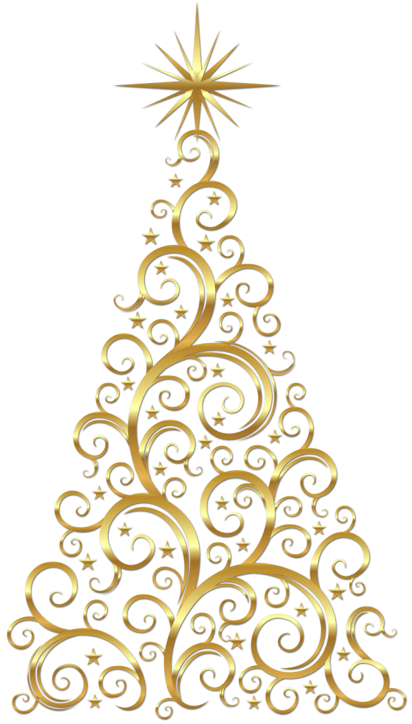 free christmas swirl cliparts