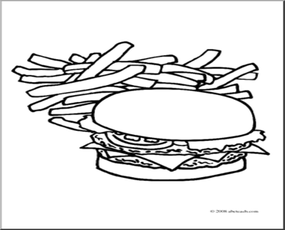 Free Hamburger Outline Cliparts, Download Free Clip Art