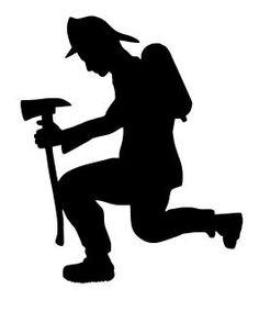 fireman silhouette clip art # 5