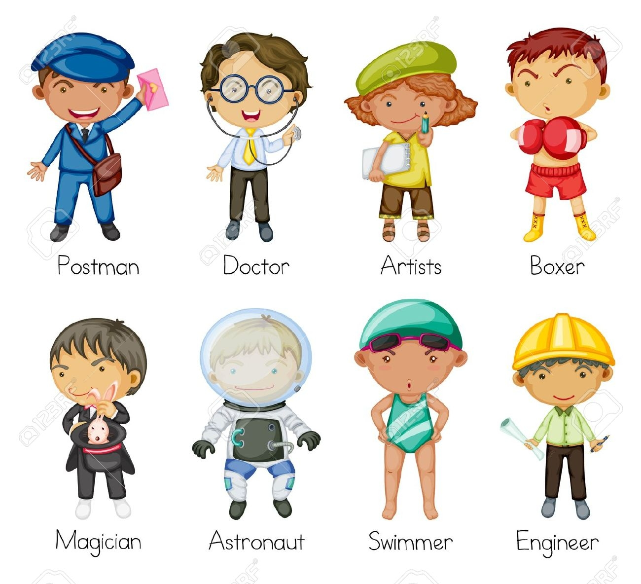 hight resolution of kid jobs clipart