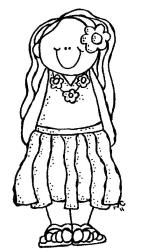 Free Cute Girl Black And White Download Free Clip Art Free Clip Art on Clipart Library