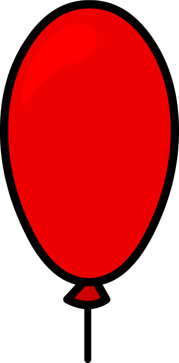free red balloon cliparts
