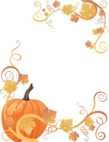 free pumpkin borders cliparts