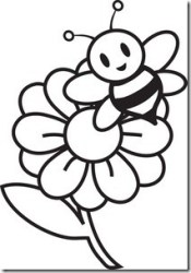 cute flower clip art black and white Clip Art Library
