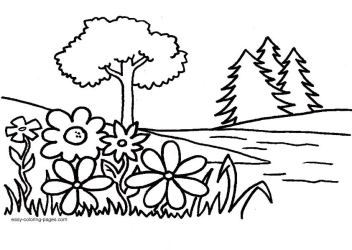 easy garden coloring pages Clip Art Library