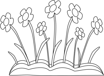 spring clipart black and white Clip Art Library