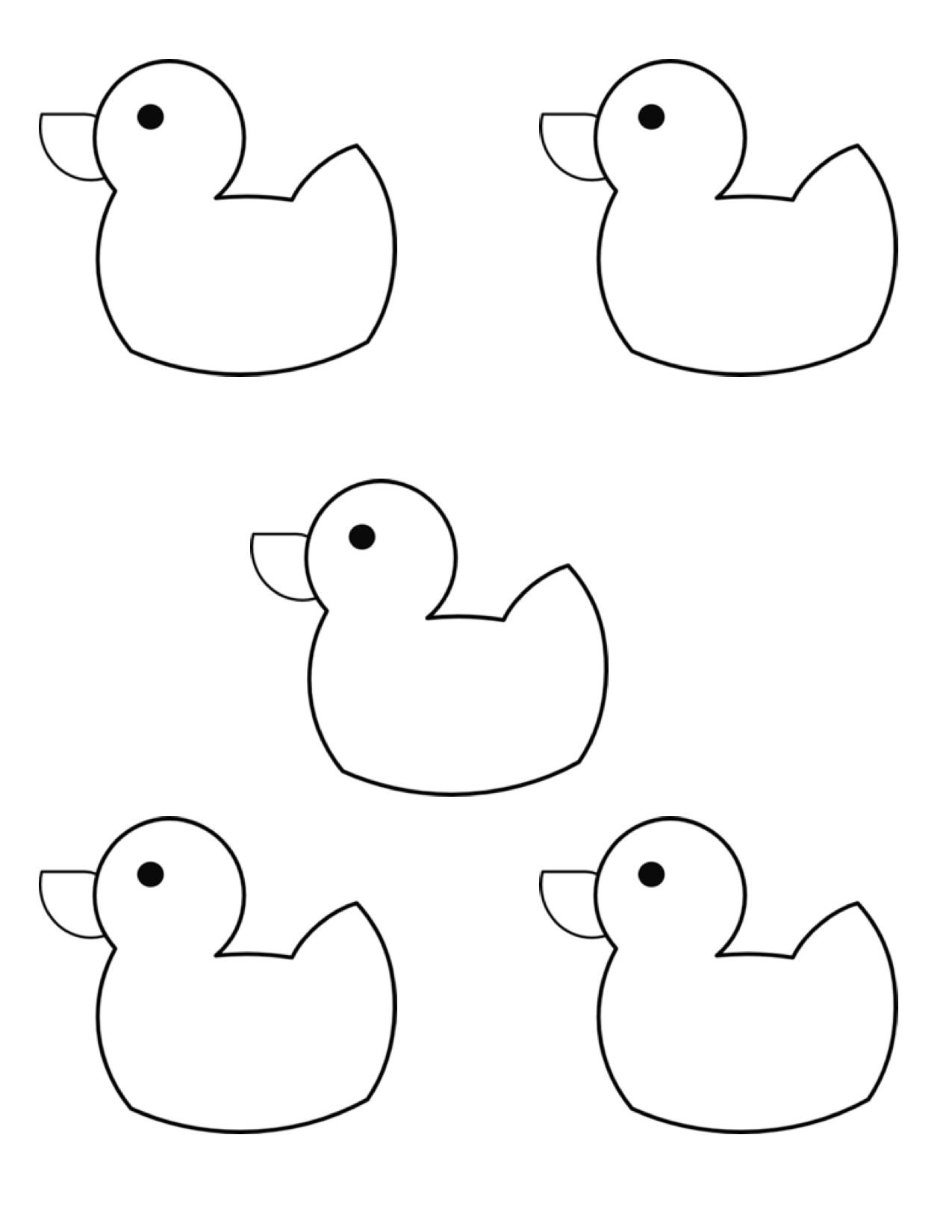 5 Little Ducks Clipart