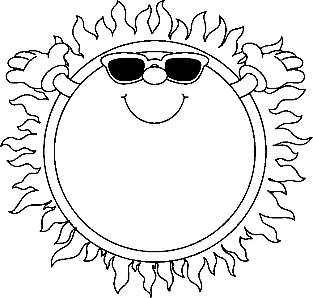 hight resolution of sunshine and clouds clipart black