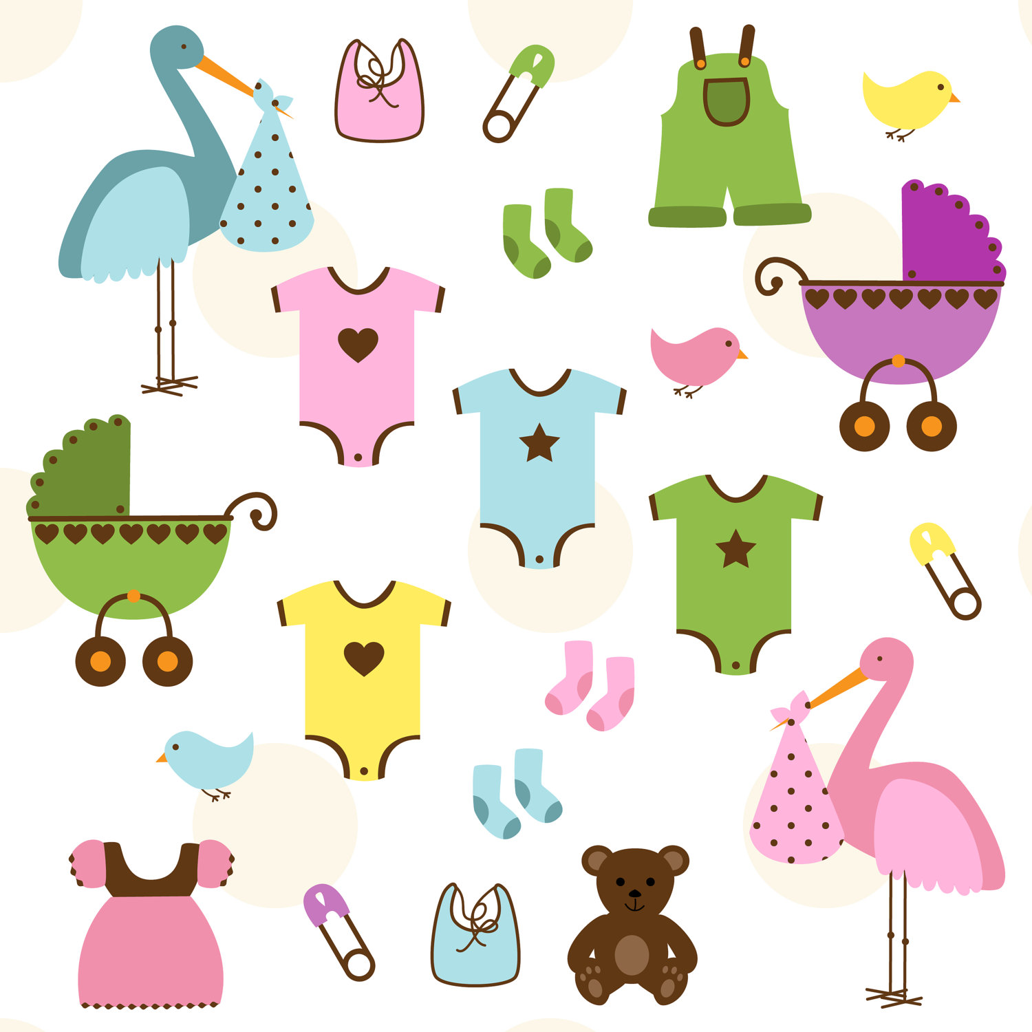 hight resolution of twin baby clipart