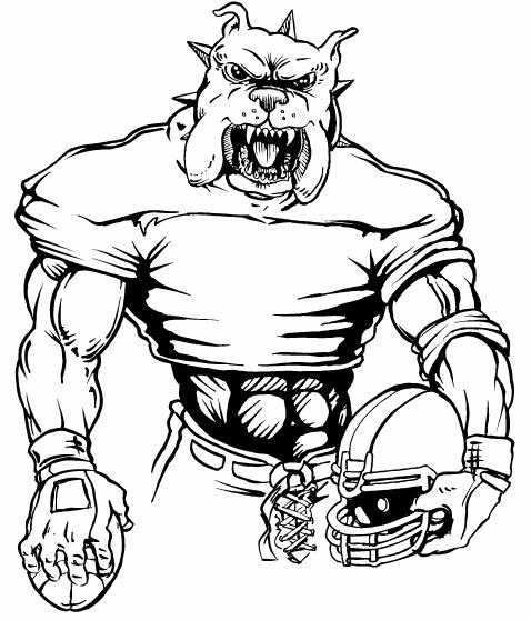 Bulldog Football Mascot Clipart Panda Free Clipart Image