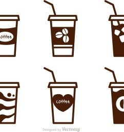 iced coffee clipart black and white [ 1400 x 980 Pixel ]