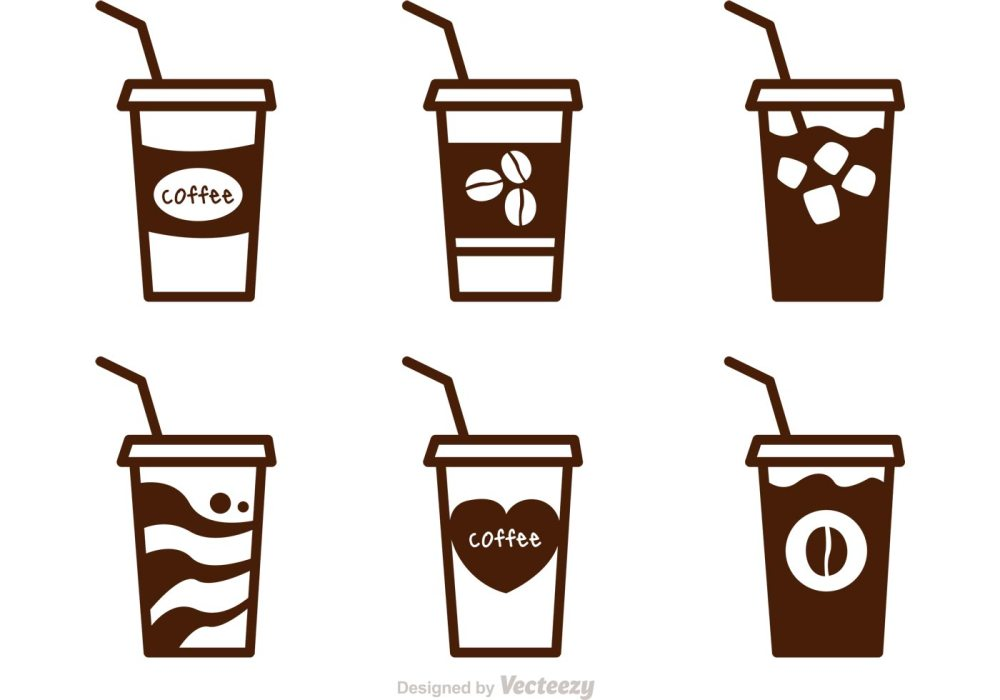 medium resolution of iced coffee clipart black and white