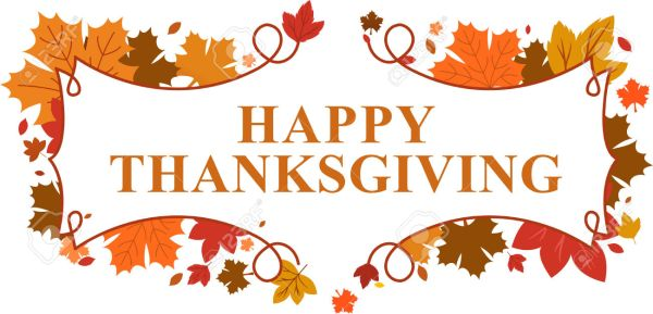 happy thanksgiving clipart banner