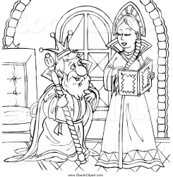 king and queen clipart black and white Clip Art Library