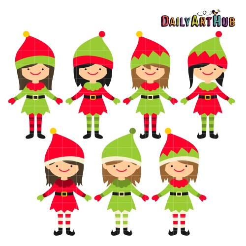 small resolution of elves clipart