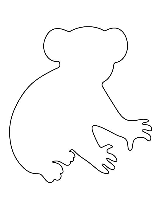 Free Koala Outline Cliparts, Download Free Clip Art, Free