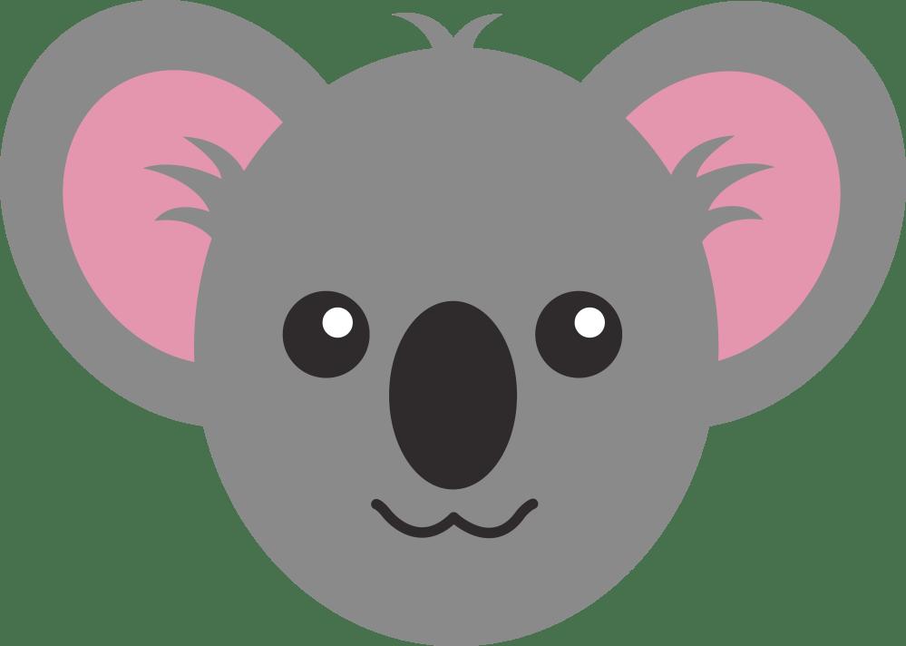 medium resolution of baby koala bear clipart outline