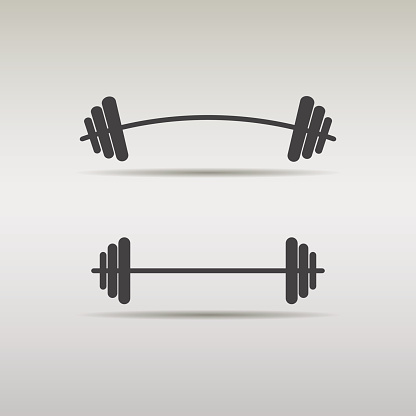 free bent barbell cliparts