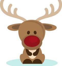christmas reindeer clipart [ 1142 x 1280 Pixel ]