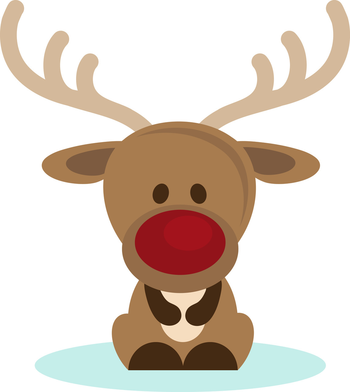 hight resolution of christmas reindeer clipart