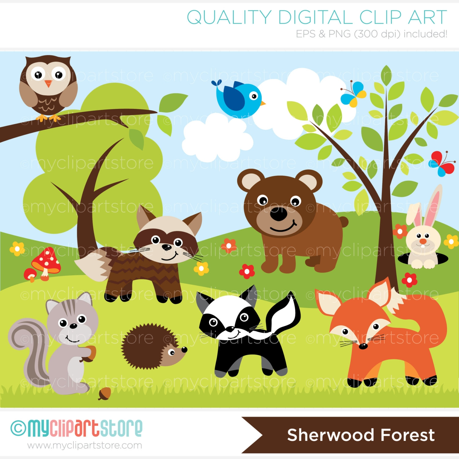 Animal In The Forest Clipart