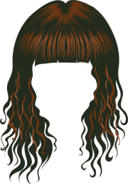 free wig cliparts coloring
