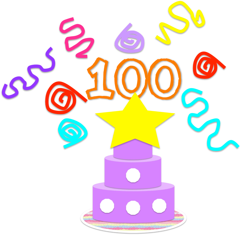 hight resolution of free 100th day clipart school