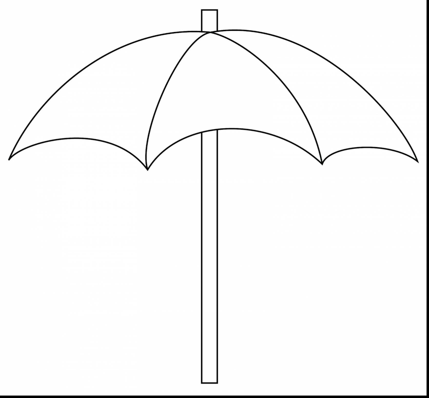 Magnificent Beach Clip Art Black And White With Umbrella