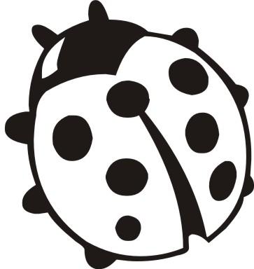 free black ladybug cliparts